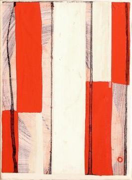 Abstracto con rojo, 215x155cm, Acrílico, 2017