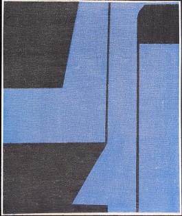 Aspecto azul, 55x46cm, Acrílico, 2017