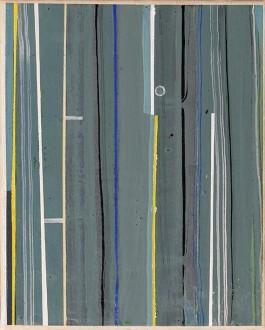Lineas gris, 24x19cm, Acrílico, 2017